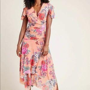 Anthropologie Maeve Simone Floral Midi Dress XS